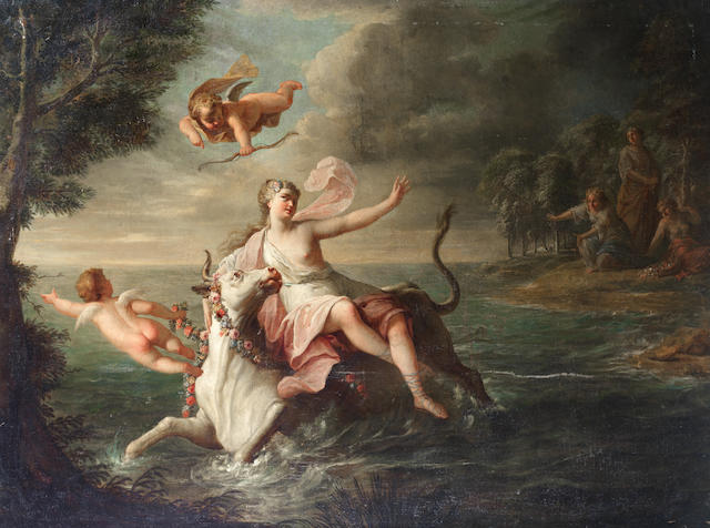 Circle of Gérard de Lairesse (Liège 1641-1711 Amsterdam) The Rape of Europa unframed