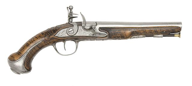 A French 25-Bore Flintlock Pistol