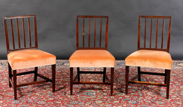 A set of five 19th century mahogany dining chairs
