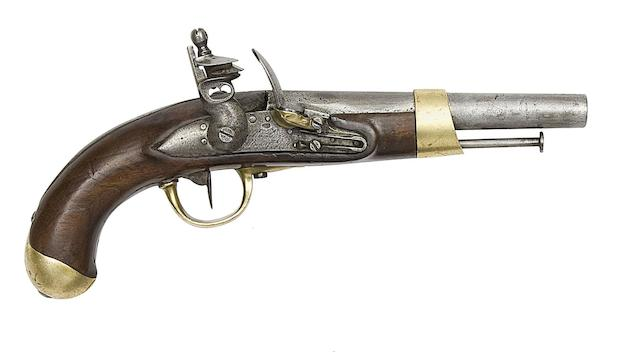A French 14-Bore Model AN XIII Flintlock Military Pistol