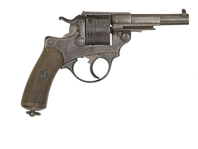 A French 11MM 1873 Model Six-Shot Centre-Fire Military Revolver