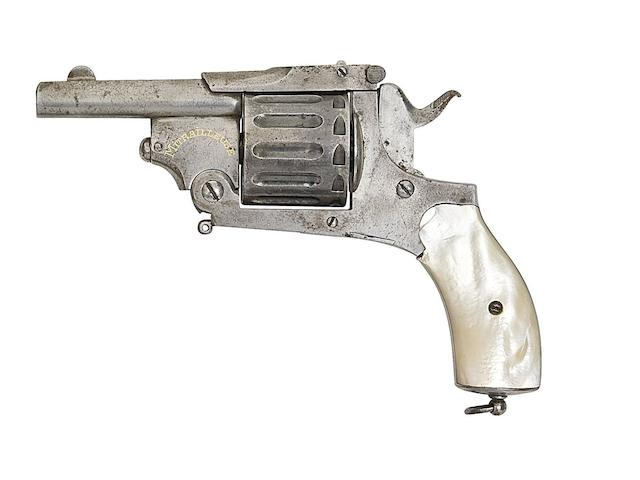 A Liège 5.5MM 'Mitrailleuse' Twelve-Shot Centre-Fire Pocket Revolver