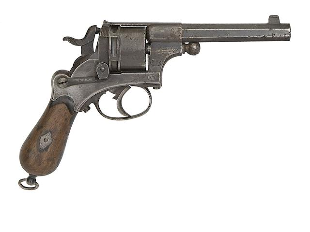 A Dutch Officer's 9.4MM Six-Shot Single-Action Centre-Fire Revolver