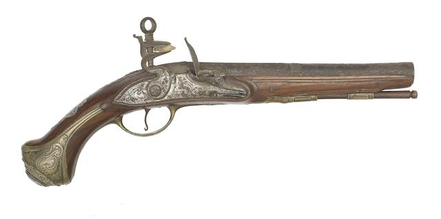 A Spanish 16-Bore Madrid-Lock Belt Pistol