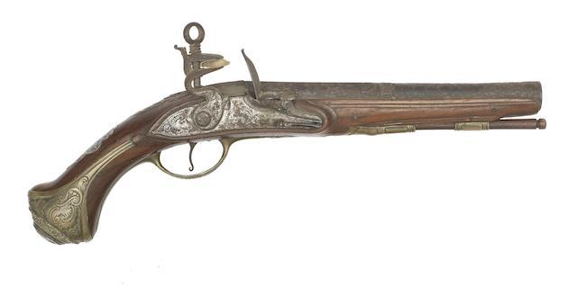 A Spanish 16-Bore Madrid-Lock Belt Pistol