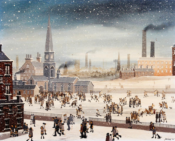 Brian Shields  (Braaq) (British, 1951-1997) 'Sunday Snow'
