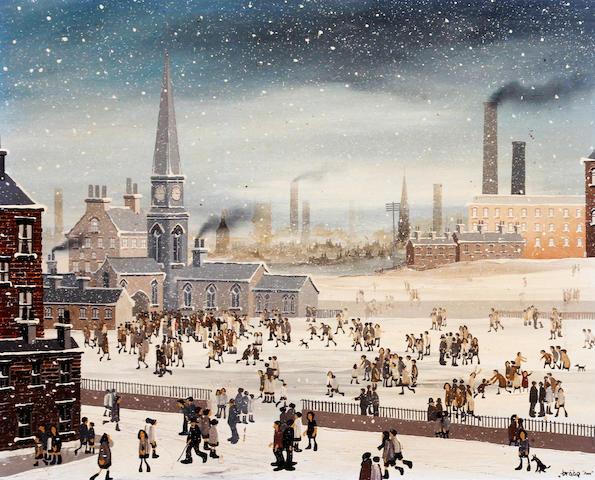 Brian Shields  (Braaq) (British, 1951-1997) 'Sunday Snow'