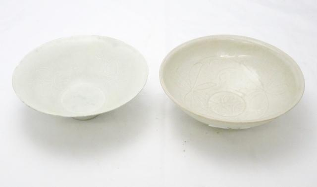 Two qingbai bowls Song