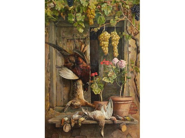 Aurelio Zingoni (Italian, 1853-1922) Larder still life