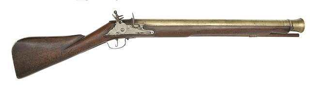 A Fine And Early Brass-Barrelled English Lock (Type 2) Blunderbuss