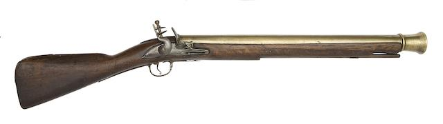 An Early Brass-Barrelled Flintlock Blunderbuss