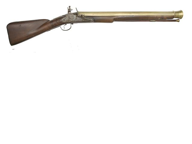 An Early Brass-Barrelled English Lock (Type 2) Blunderbuss