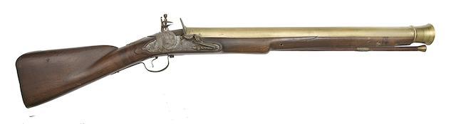 An Early Brass-Barrelled English Lock (Type 2) Blunderbuss