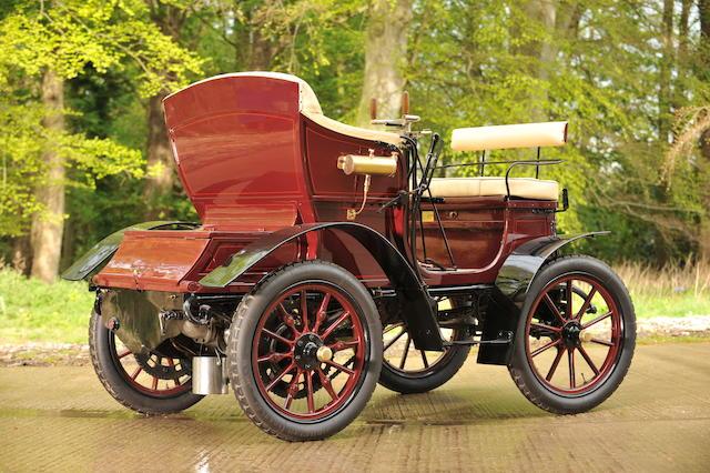 Anciennement propriété de la Collection Reserve des Frères Ward,1902 Delahaye 6hp Type O Vis-à-Vis  Chassis no. 120 Engine no. 92