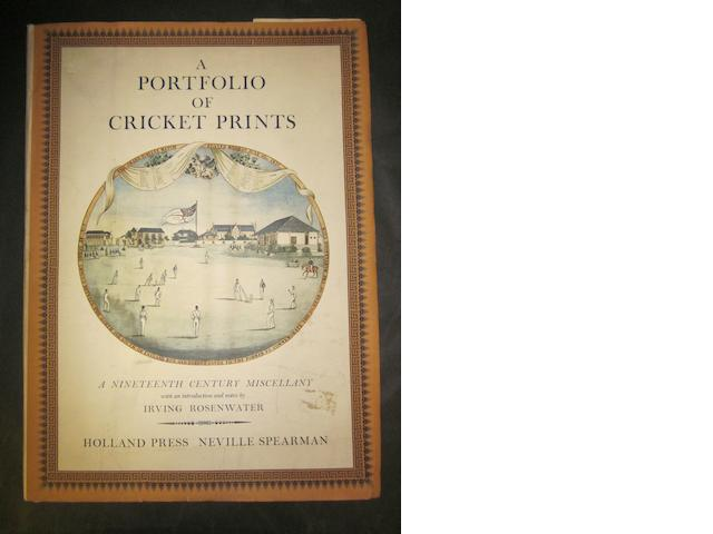 A Portfolio of Cricket prints Irving Rosenwater