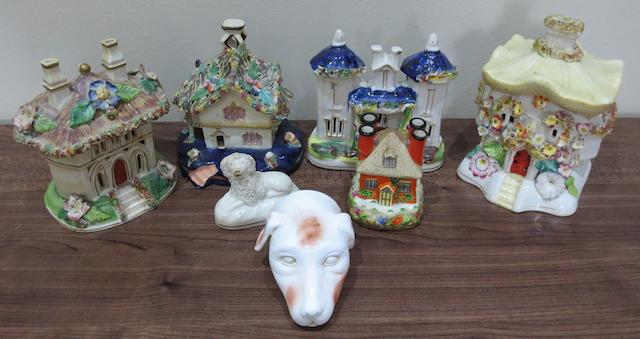 A quantity of assorted Staffordshire and other items