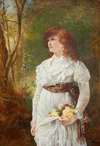 Laslett John Pott (British, 1837-1898) A handfull of roses