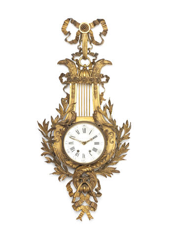 A 19th century giltbronze cartel clock