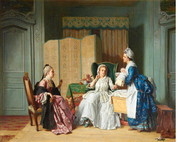 Jean Carolus (Belgian, 1814-1897) The new arrival