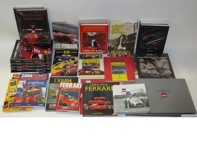 A quantity of books relating mainly to Ferrari,