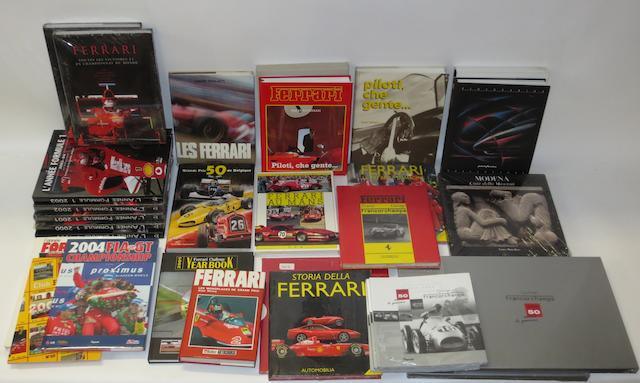 A quantity of books relating mainly to Ferrari,