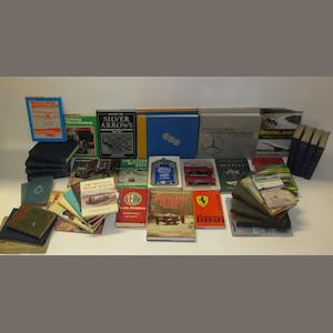 A quantity of books relating to racing marques,