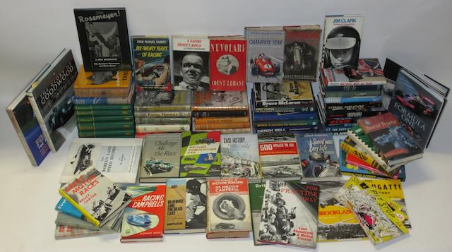 A quantity of racing driver biographies,