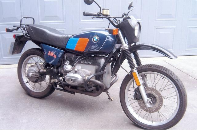 Only 3,568 miles from new,1983 BMW 798cc R80G/S Frame no. 6258129 Engine no. 6258129