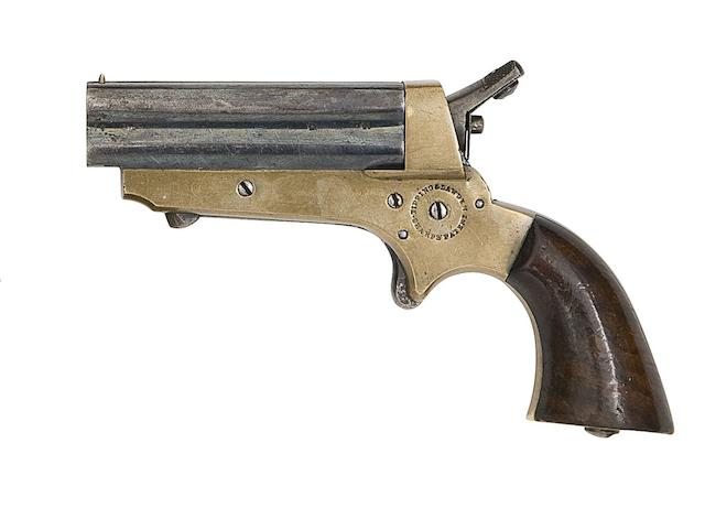 A .30 Tipping & Lawden Sharps' Patent Four-Shot Rim-Fire Deringer
