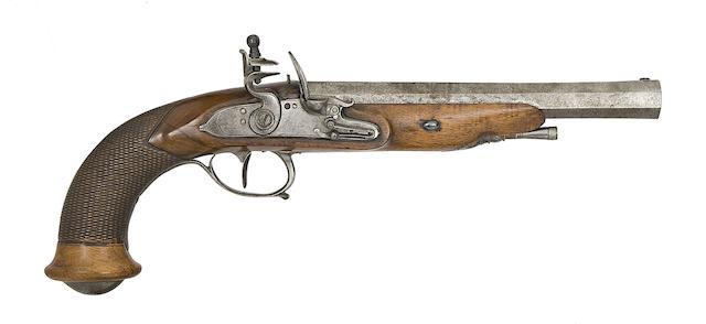 A Liège 15-Bore Flintlock Pistol