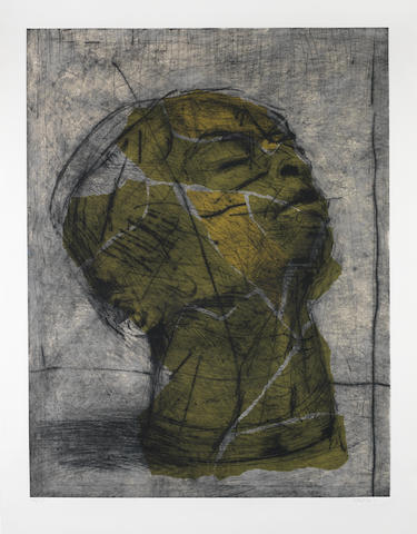 William Joseph Kentridge (South African, born 1955) 'Head (Green)'