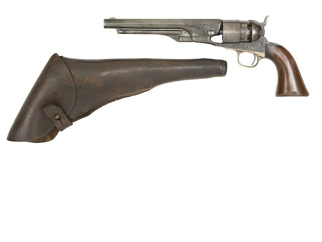A Colt 1860 Model Army Percussion Revolver