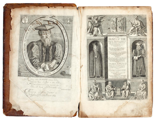BIBLE, in English, Bishops and Rheims version The Text of the New Testament of Jesus Christ, edited by W. Fulke, 1633