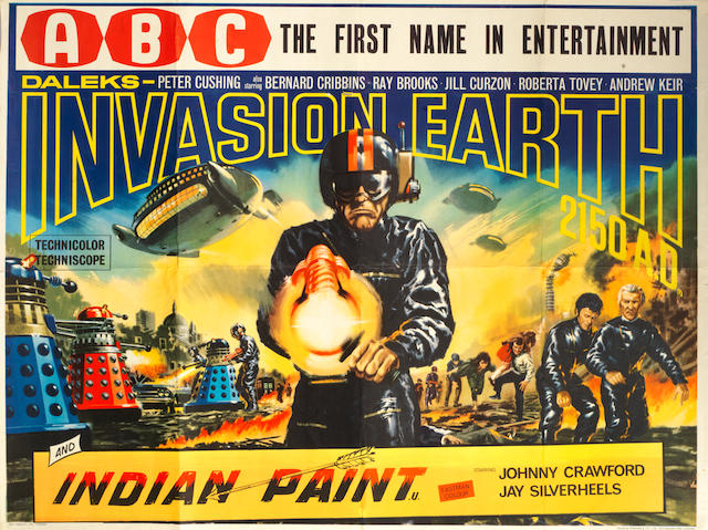 Daleks Invasion Earth 2150, British Lion Films, 1966,