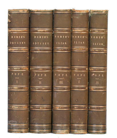 POPE (ALEXANDER) [The Iliad and Odyssey in English], 5 vol.