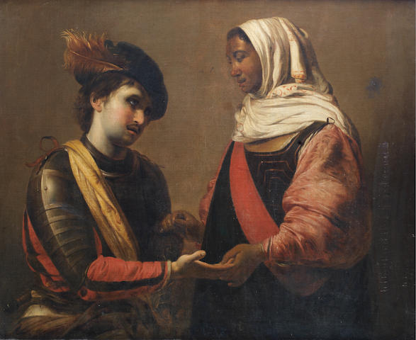 Circle of Valentin de Boulogne (Coulommiers 1591-1632 Rome) The Fortune Teller