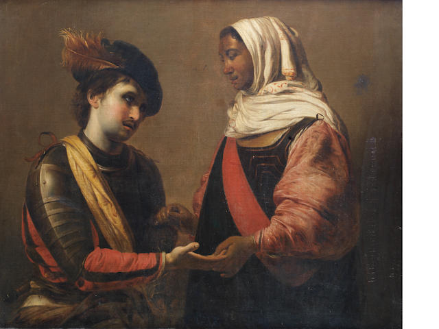 Studio of Valentin de Boulogne (French, 1591-1632), 17th Century The Fortune Teller