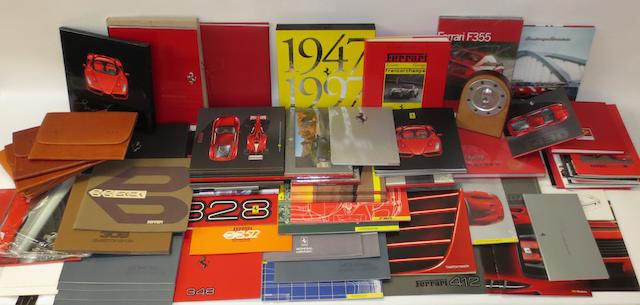 A quantity of Ferrari sales literature,