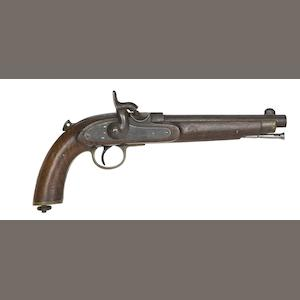 A .451 Westley Richards Patent 'Monkey-Tail' Breech-Loading Percussion Pistol