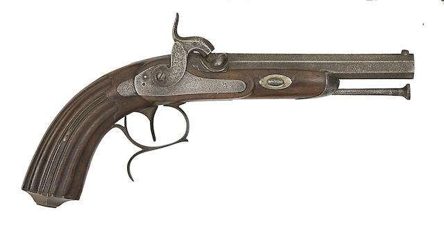 A Continental 32-Bore Percussion Target Pistol, And A Liège 50-Bore Percussion Target Pistol