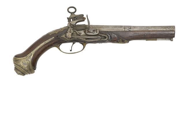 A Spanish 20-Bore Miquelet-Lock Pistol