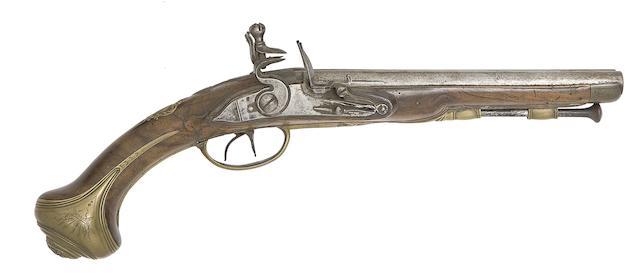 A Liège 25-Bore D.B. Flintlock Pistol