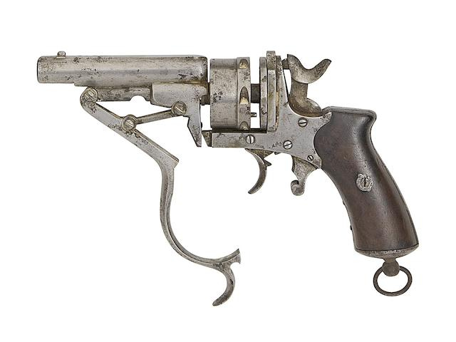 A Liège 9MM (Perrin) Galand Patent Six-Shot Double-Acton Centre-Fire Revolver