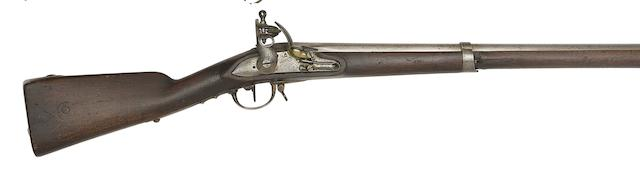A French 13-Bore 1777 Model Flintlock Infantry Musket