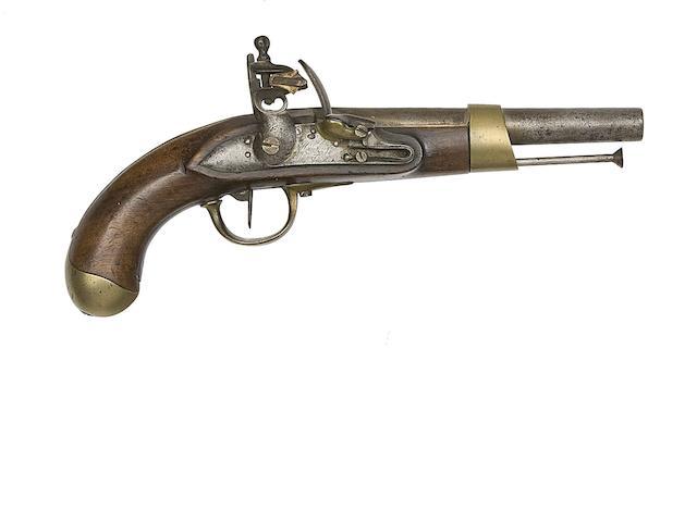 A French 14-Bore Model AN XIII Flintlock Military Pistol