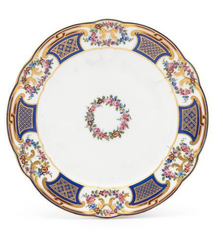 A Sèvres plate, circa 1773
