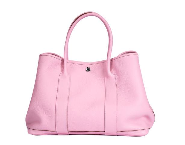An Hermes leather garden party handbag