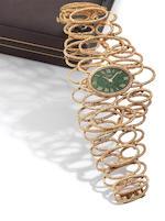 Piaget. A fine 18ct gold manual wind lady's bracelet watch Movement No.6902881, 1970's??