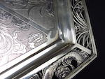A Canton export silver tray Luen Wu, late 19th/early 20th century