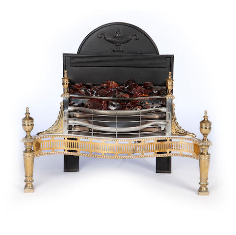 A George III style serpentine fire-grate